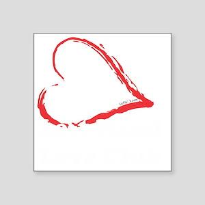 "Left Hand Love Club Square Sticker 3"" x 3"""