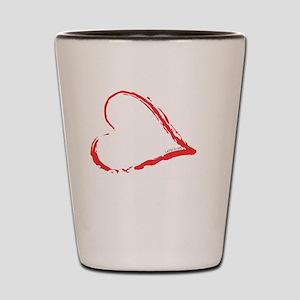 Left Hand Love Club Shot Glass