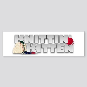 Knitting Knittin' Kitten Bumper Sticker