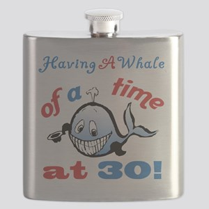 30th Birthday Humor (Whale) Flask