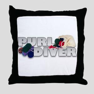 Knitting Stitch Witch Throw Pillow