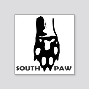 "Southpaw Square Sticker 3"" x 3"""