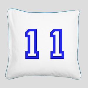 #11 Square Canvas Pillow