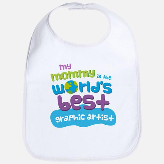 Graphic Artist Gift for Kids Baby Bib