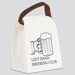LEFT HAND DRINKING CLUB Canvas Lunch Bag