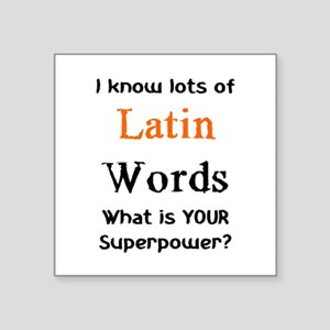 "latin words Square Sticker 3"" x 3"""