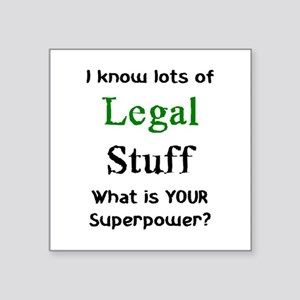 "legal stuff Square Sticker 3"" x 3"""