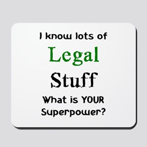 legal stuff Mousepad
