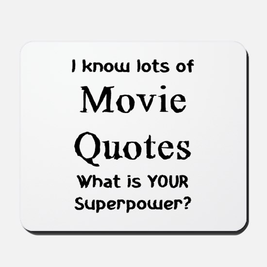 movie quotes Mousepad