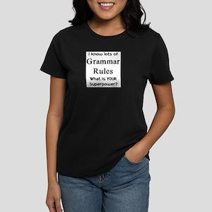 grammar rules Women's Dark T-Shirt