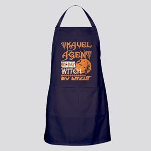 Travel Agent By Day Witch By Night Ha Apron (dark)