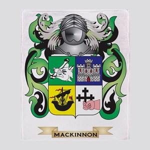MacKinnon Coat of Arms - Family Cres Throw Blanket