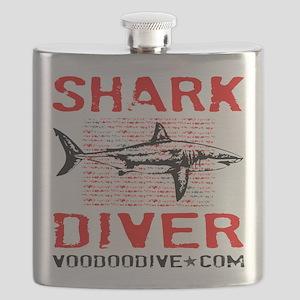 SHARK DIVER - WHITE Flask
