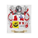 Clan maclean coat of arms Fleece Blankets