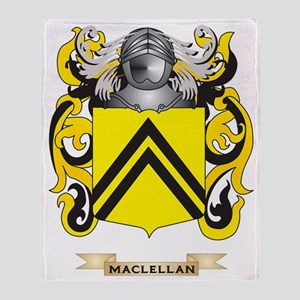 MacLellan Coat of Arms - Family Cres Throw Blanket