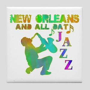 New Orleans Jazz (4) Tile Coaster