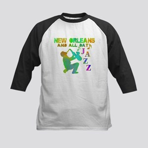 New Orleans Jazz (4) Kids Baseball Jersey