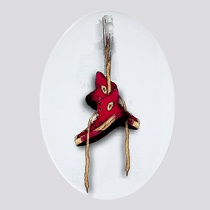 Red Shoes Oval Ornament