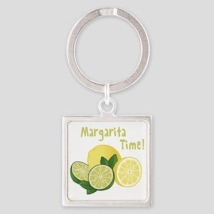 Margarita Time Square Keychain