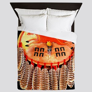 Horse Medicine Shield Queen Duvet