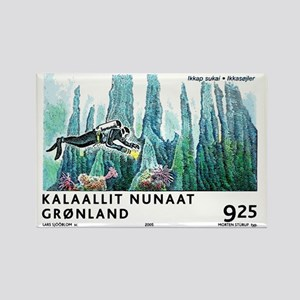 2005 Greenland Scuba Diver Postag Rectangle Magnet