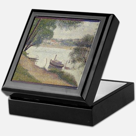Gray weather Grande Jatte Keepsake Box