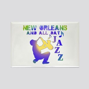 New Orleans Jazz (3) Rectangle Magnet