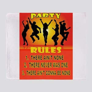 PARTY RULES Throw Blanket