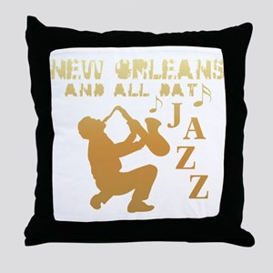 New Orleans Jazz (1) Throw Pillow