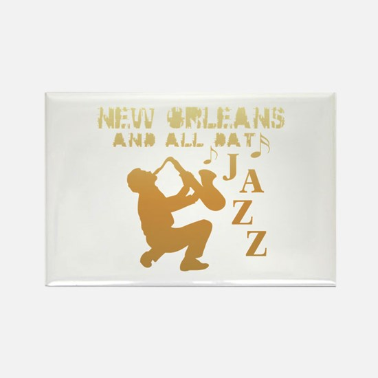 New Orleans Jazz (1) Rectangle Magnet