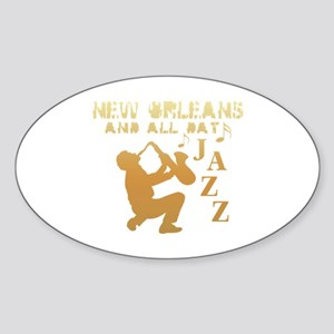 New Orleans Jazz (1) Oval Sticker