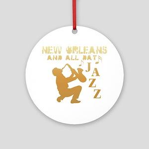 New Orleans Jazz (1) Ornament (Round)