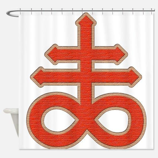 Satanic Cross Shower Curtain