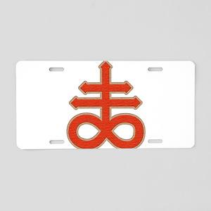 Satanic Cross Aluminum License Plate