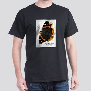 Red Admiral Butterfly Dark T-Shirt