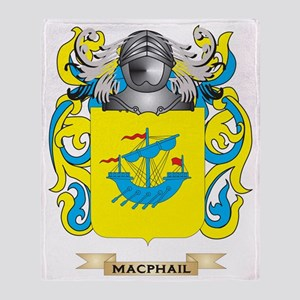 MacPhail Coat of Arms - Family Crest Throw Blanket