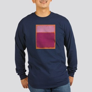 ROTHKO PINK RASBERRY AND ORANGE Long Sleeve T-Shir