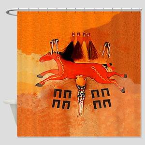 Horse Tracks Shower Curtain