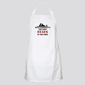 What Happens In The Shop BBQ Apron