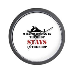 What Happens In The Shop Wall Clock