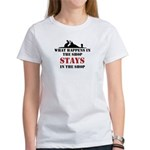 What Happens In The Shop Women's T-Shirt