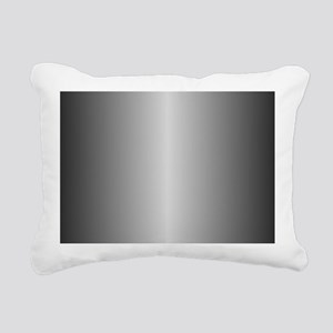 Grey Metallic Shiny Rectangular Canvas Pillow