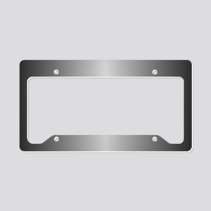 Grey Metallic Shiny License Plate Holder