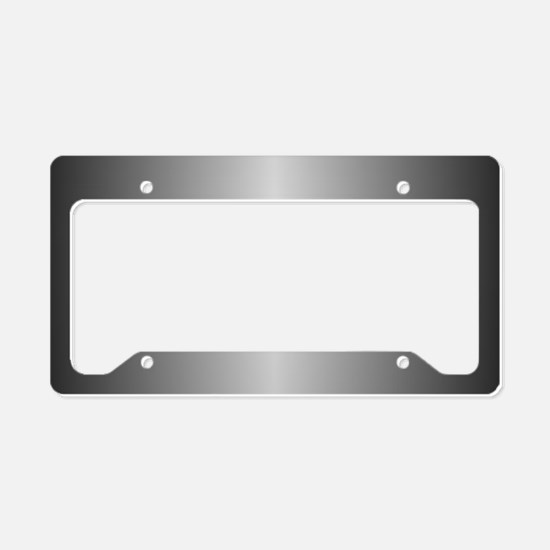 Grey Metallic Shiny License Plate Holder