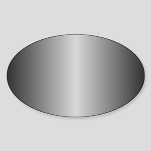 Grey Metallic Shiny Sticker (Oval)