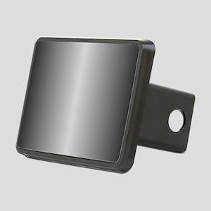 Grey Metallic Shiny Rectangular Hitch Cover