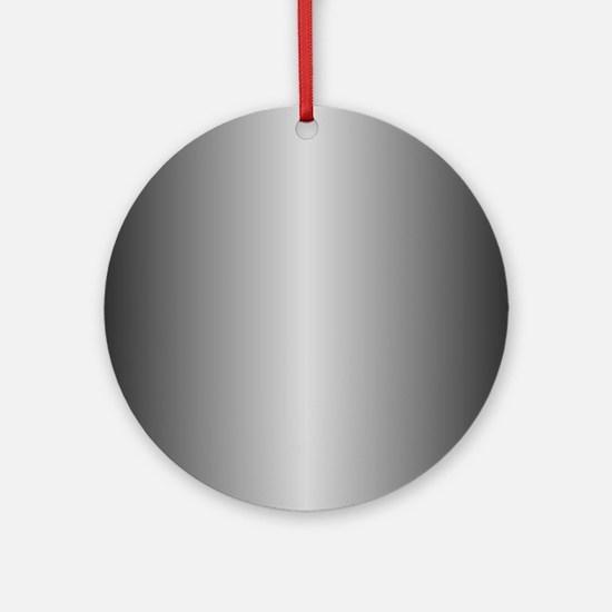 Grey Metallic Shiny Round Ornament