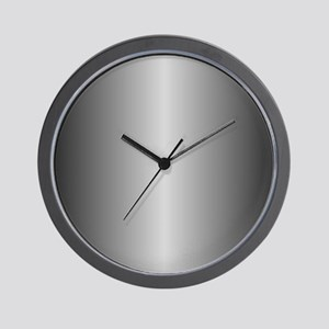 Grey Metallic Shiny Wall Clock