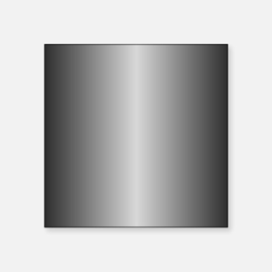 "Grey Metallic Shiny Square Sticker 3"" x 3"""