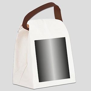 Grey Metallic Shiny Canvas Lunch Bag